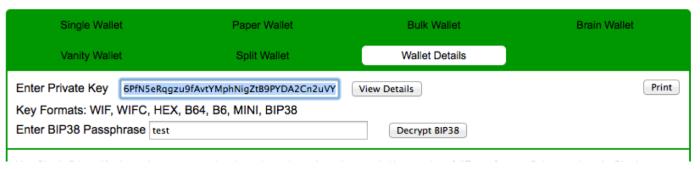 Decrypting BIP38